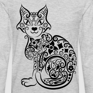 Cute hand drawn cat decoration pattern T-Shirts - Men's Premium Long Sleeve T-Shirt