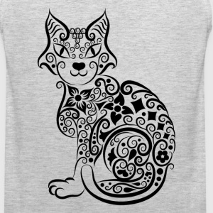 Cute hand drawn cat decoration pattern T-Shirts - Men's Premium Tank