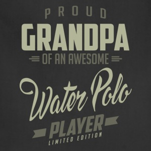 Proud Grandpa Water Polo Player. - Adjustable Apron