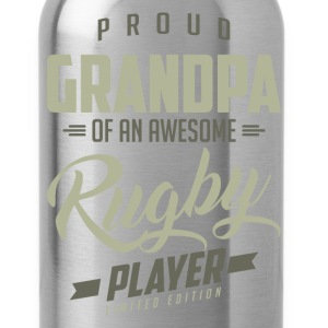 Proud Grandpa Rugby Player. - Water Bottle