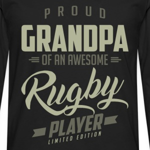 Proud Grandpa Rugby Player. - Men's Premium Long Sleeve T-Shirt