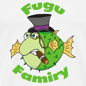 The Fugu Network Fugu Famiry Travel Mug *Left Ha - Men's Premium T-Shirt