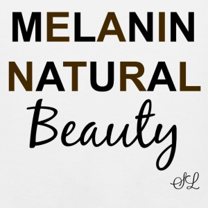Black Girl T-shirt: Melanin Natural Beauty Women's T-Shirts - Men's Premium Tank