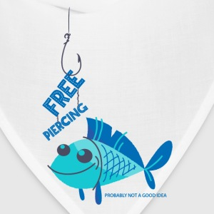 Blue Fish Free Piercing T-Shirts - Bandana