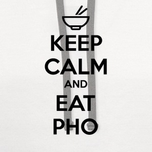Keep Calm and Eat Pho - Contrast Hoodie