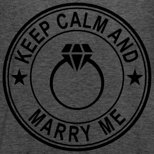 Keep Calm And Marry Me Women's T-Shirts - Women's Flowy Tank Top by Bella