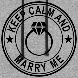 Keep Calm And Marry Me Long Sleeve Shirts - Colorblock Hoodie