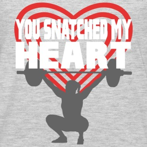 You Snatched My Heart Female Lifter Tanks - Men's Premium Long Sleeve T-Shirt