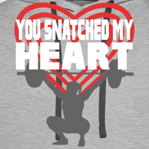 You Snatched My Heart Female Lifter T-Shirts - Men's Premium Hoodie