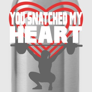 You Snatched My Heart Female Lifter T-Shirts - Water Bottle