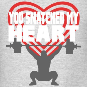 You Snatched My Heart Male Lifter Tanks - Men's T-Shirt