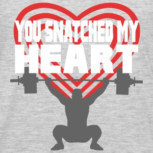You Snatched My Heart Male Lifter Tanks - Men's Premium Long Sleeve T-Shirt