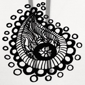 Paisley on Steroids.png Women's T-Shirts - Contrast Hoodie