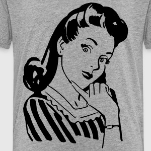 Vintage Woman Kids' Shirts - Toddler Premium T-Shirt