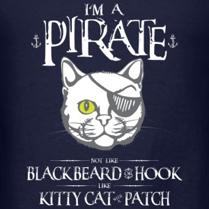 Funny Kitty Cat With Patch Pirate - Men's T-Shirt
