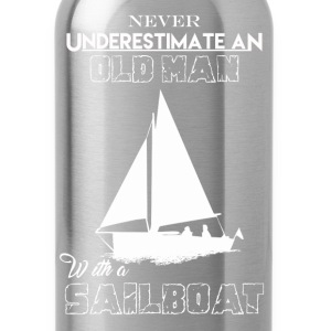 Old Man With Sailboat - Water Bottle