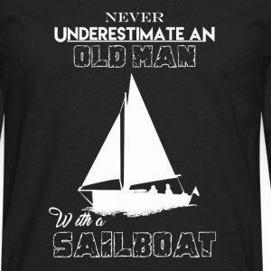 Old Man With Sailboat - Men's Premium Long Sleeve T-Shirt