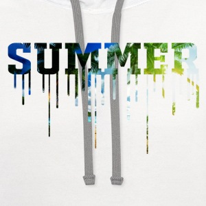 Summer is here shirt for her - Contrast Hoodie