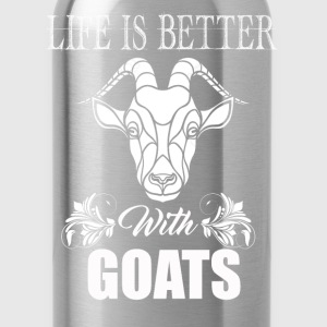 Life Is Better With Goats - Water Bottle
