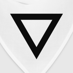 BlackInvertedTriangle Other - Bandana