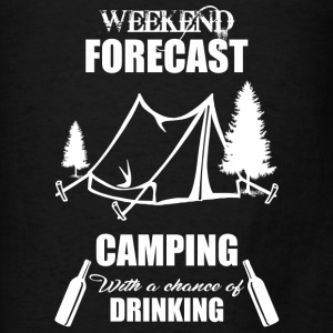 Weekend Forecast Camping - Men's T-Shirt