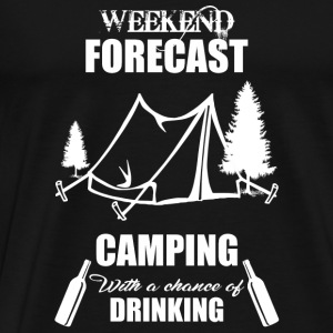 Weekend Forecast Camping - Men's Premium T-Shirt