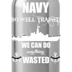 Well Trained Navy - Water Bottle