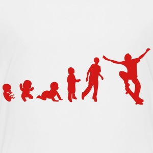 skateboard evolution Kids' Shirts - Toddler Premium T-Shirt