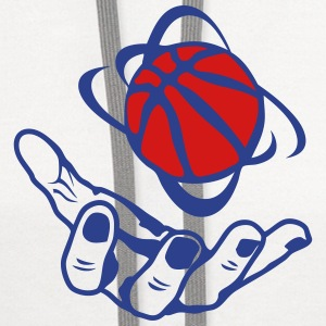 open hand basketball ball 1 Tanks - Contrast Hoodie