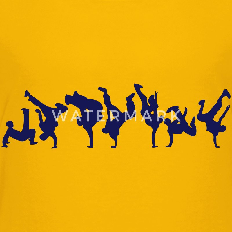break dance hip hop dancer 1366 Kids' Shirts - Kids' Premium T-Shirt