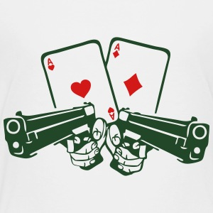 pistol poker card ace gun weapon revolve Kids' Shirts - Toddler Premium T-Shirt