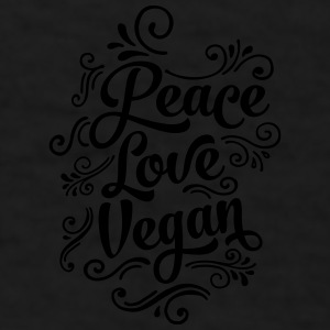 Love Peace Vegan Mugs & Drinkware - Men's T-Shirt