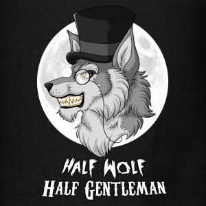 Half-Wolf Half-Gentleman Hoodies - Men's T-Shirt