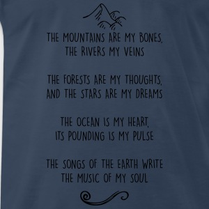 Mountains are my Bones - Wild Woman Tank - Men's Premium T-Shirt