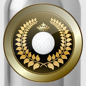 Golden crown golf club shield T-Shirts - Water Bottle