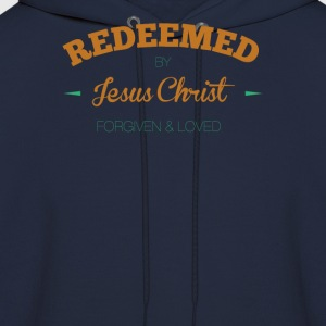 Redeemed-by-Jesus Christ Forgiven and Loved - Men's Hoodie