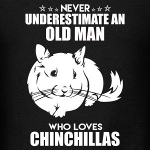Old Man Loves Chinchillas - Men's T-Shirt
