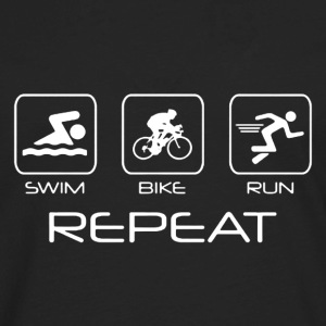 Swim Bike Run Shirt - Men's Premium Long Sleeve T-Shirt