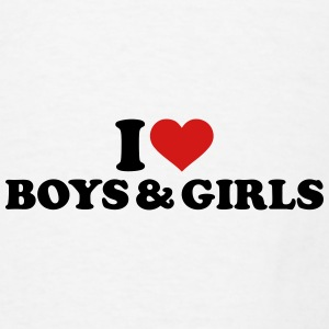 I love boys and girls Mugs & Drinkware - Men's T-Shirt