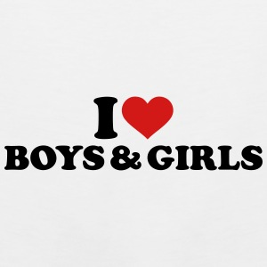 I love boys and girls Mugs & Drinkware - Men's Premium Tank