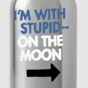 I'm With Stupid.. On the Moon - Water Bottle