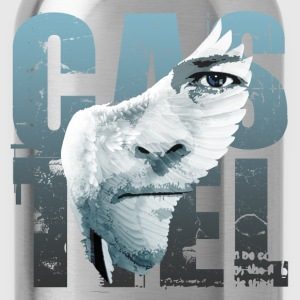 SPN Castiel Angel Wing Art - Water Bottle