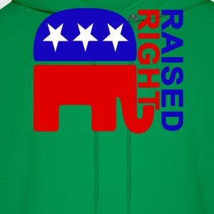 raised_right_ - Men's Hoodie