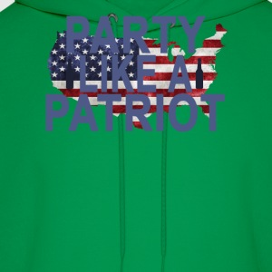 party_like_a_patriot_ - Men's Hoodie