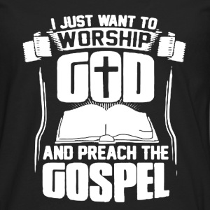 Worship God Shirt - Men's Premium Long Sleeve T-Shirt