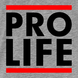 Pro Life Slogan Campaign Stop Abortion Sign Hoodies - Men's Premium T-Shirt