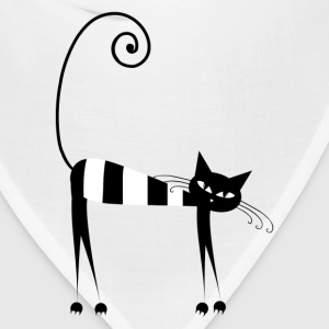 Slim fancy cat walking T-Shirts - Bandana