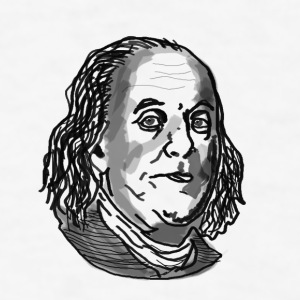 Ben Franklin drawing - Men's T-Shirt