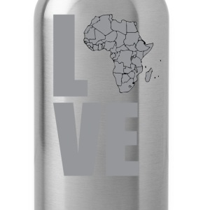 LOVE black and gray T-Shirts - Water Bottle