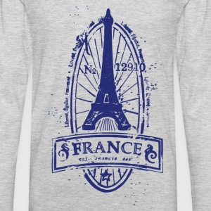 France stamp art T-Shirts - Men's Premium Long Sleeve T-Shirt